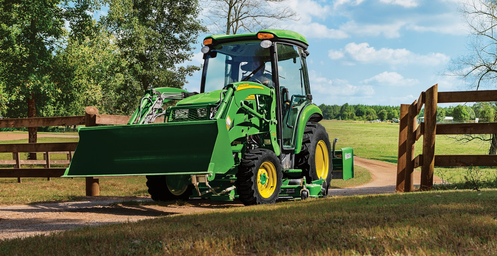 3046R with loader and mower deck